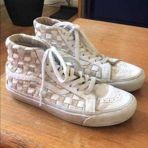 Leather and suede Sk8 hi Vans size 7.5 m 9 w